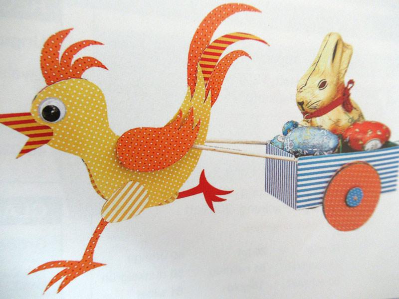 Osterfeier mit Nestsuche